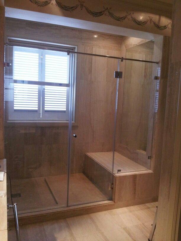 Mampara de ducha de vidrio templado mamparas modernas - Mampara vidrio templado ...