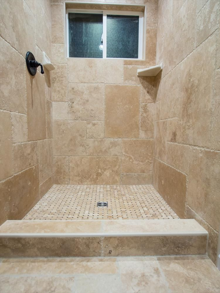 Travertine tile antique pattern sets pinterest travertine beige and travertine tile for Travertine tile bathroom ideas