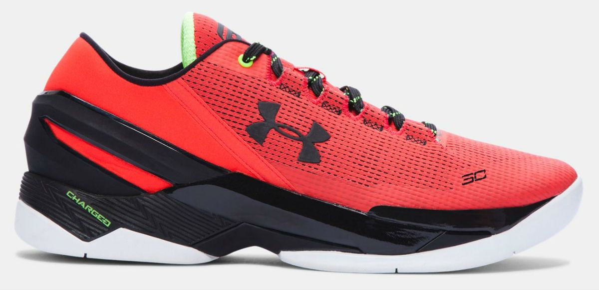 on sale f54e4 3c1db Under Armour Curry Two Low Rocket Red 1264001-984 (1) | My ...