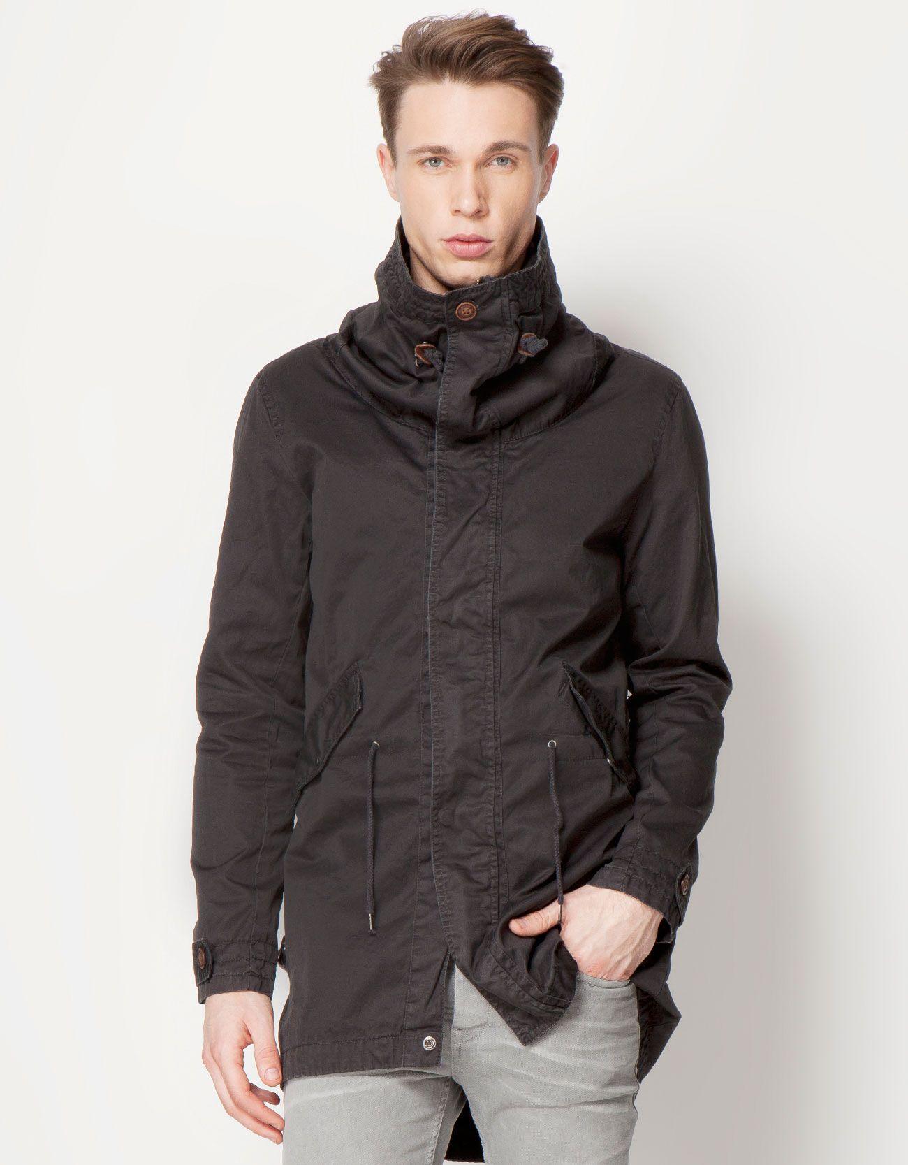 Bershka Deutschland - Mantel lang schlapper Kragen