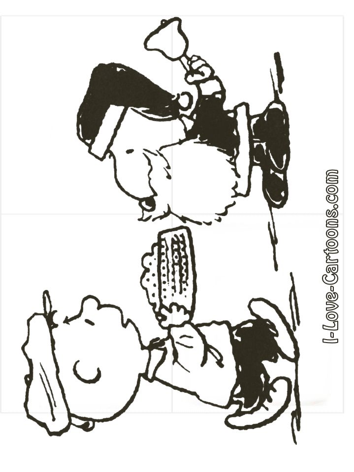 Charlie Brown Christmas Coloring Pages Charlie Brown Snoopy