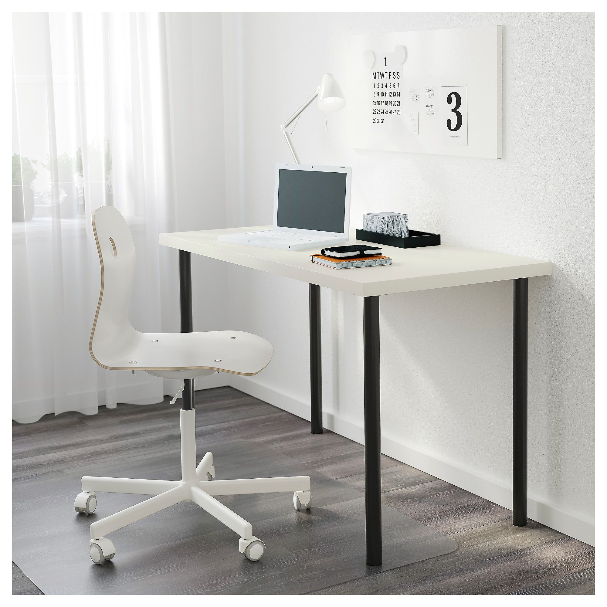 ikea linnmon table top white home office pinterest. Black Bedroom Furniture Sets. Home Design Ideas