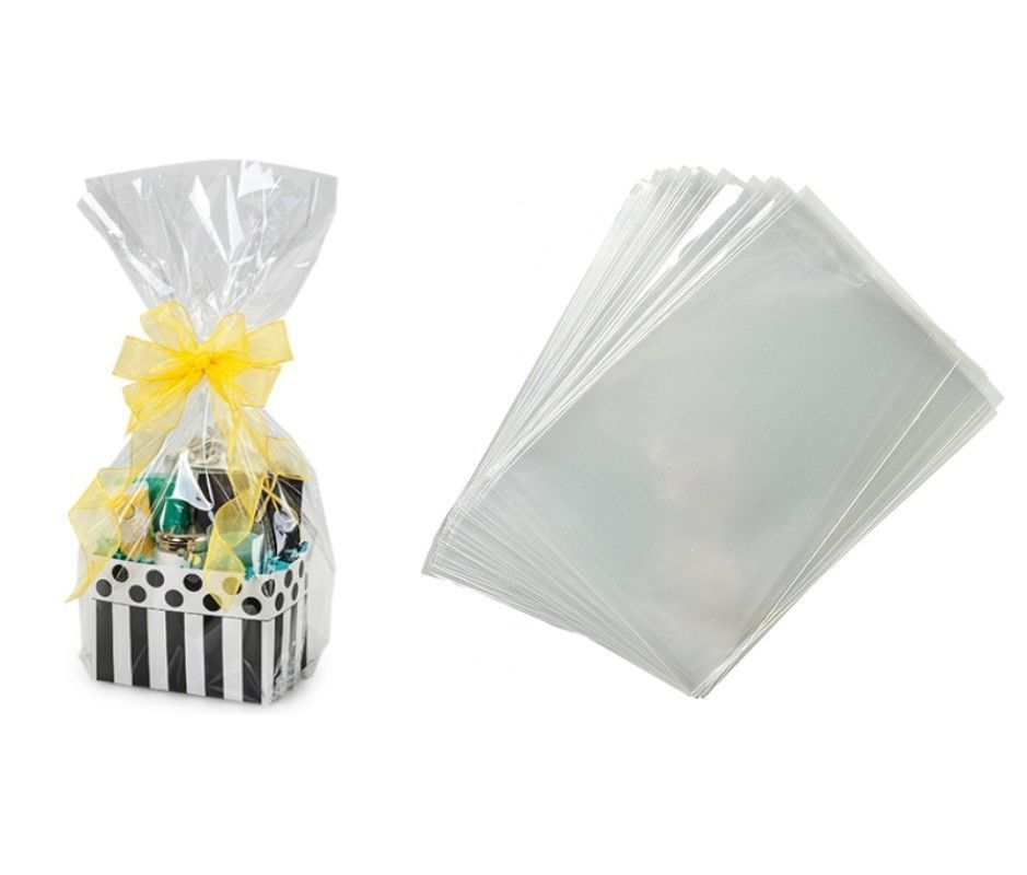 Cellophane 170102 pack of 20 cello gift basket bags 14 x