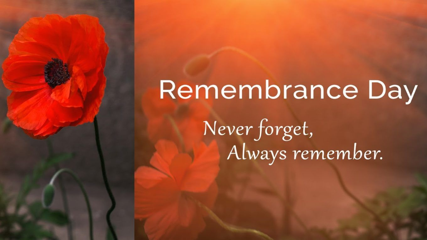 We will remember them. Happy Remembrance Day from the team ...