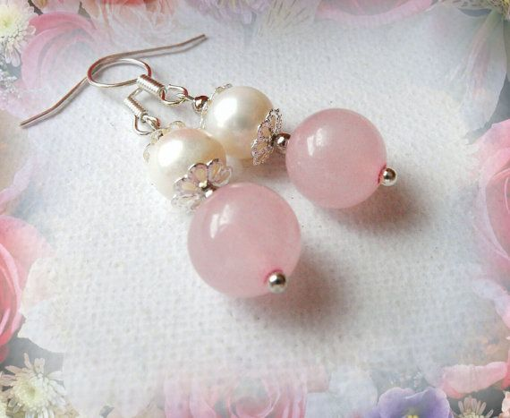 Handmade Fashion Jewelry Natural Pink Jade by CraftsbySigita on Etsy