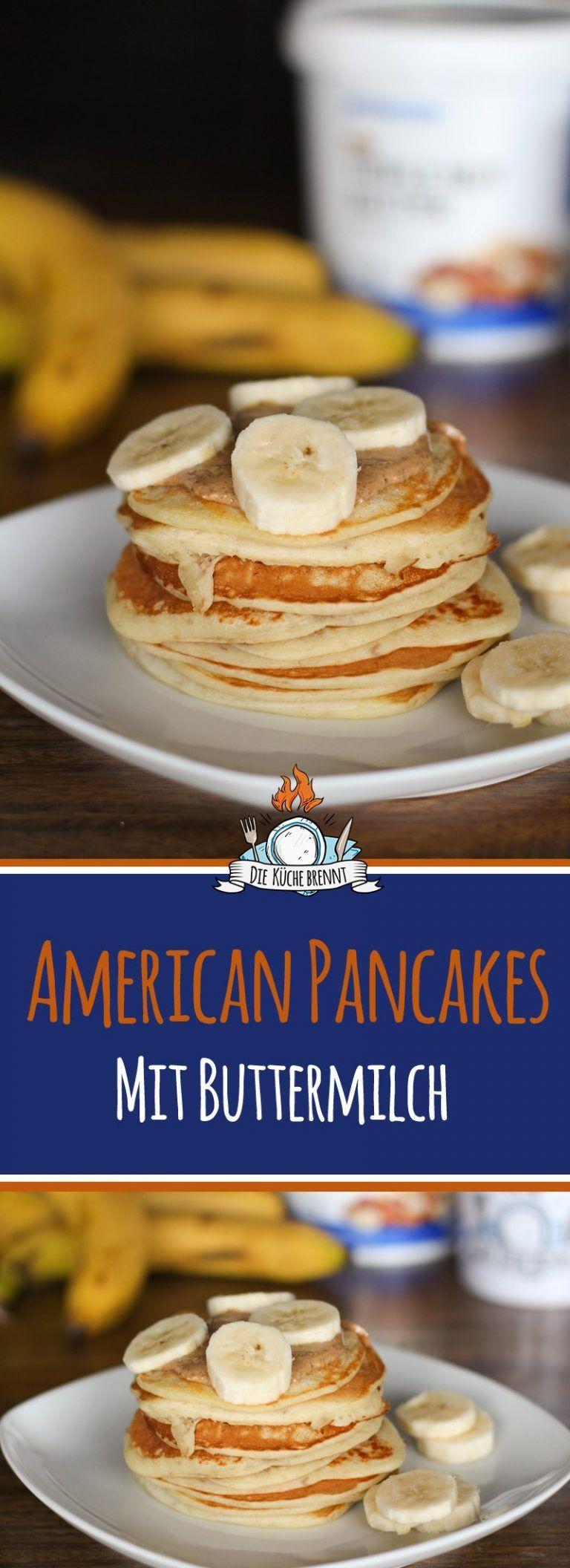 American Pancakes Rezept mit Buttermilch #quickcookierecipes