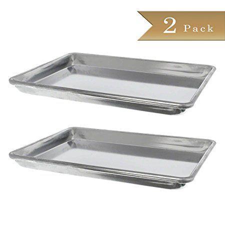 Set 2 Truecraftware 18 Gauge Aluminium Commercial Baker S 1 4 Size Quarter Baking Trays Sheets Pans 9 5 X 13 Review