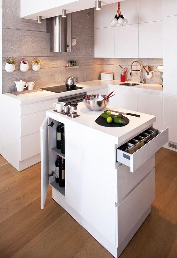 Resultado de imagen para cocinas integrales pequeñas para casa de ...