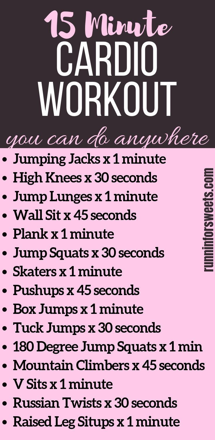 A 15 Minute Cardio Workout You Can Do Anywhere – Cross Training for Runners – #…