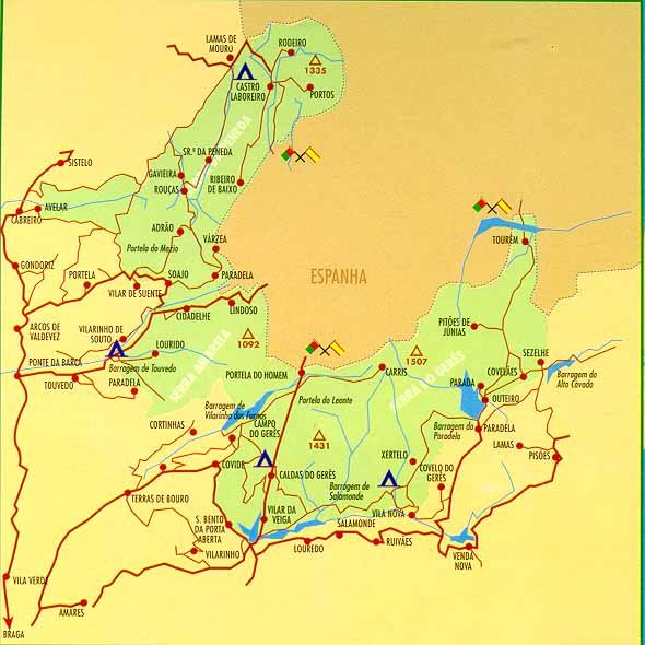 mapa de geres Parque Nacional da Serra do Gerês   mapa | História | Pinterest mapa de geres