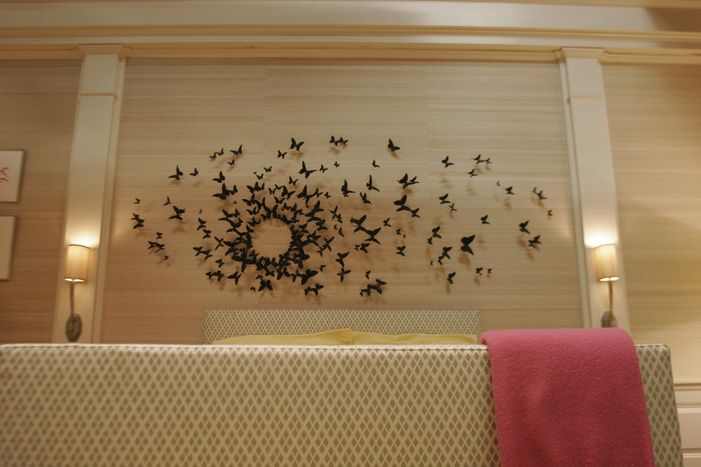 Butterfly Wall Art, But Perhaps Leaves/fish/dandelions Instead. By Artist  Paul Villinski (200 Smoke Black Butterflies Are Made From Crushed Beer Cans  ...