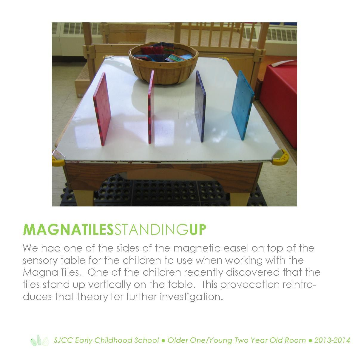 Magna Tiles.  Toddler Classroom.  Reggio Inspired Practice.