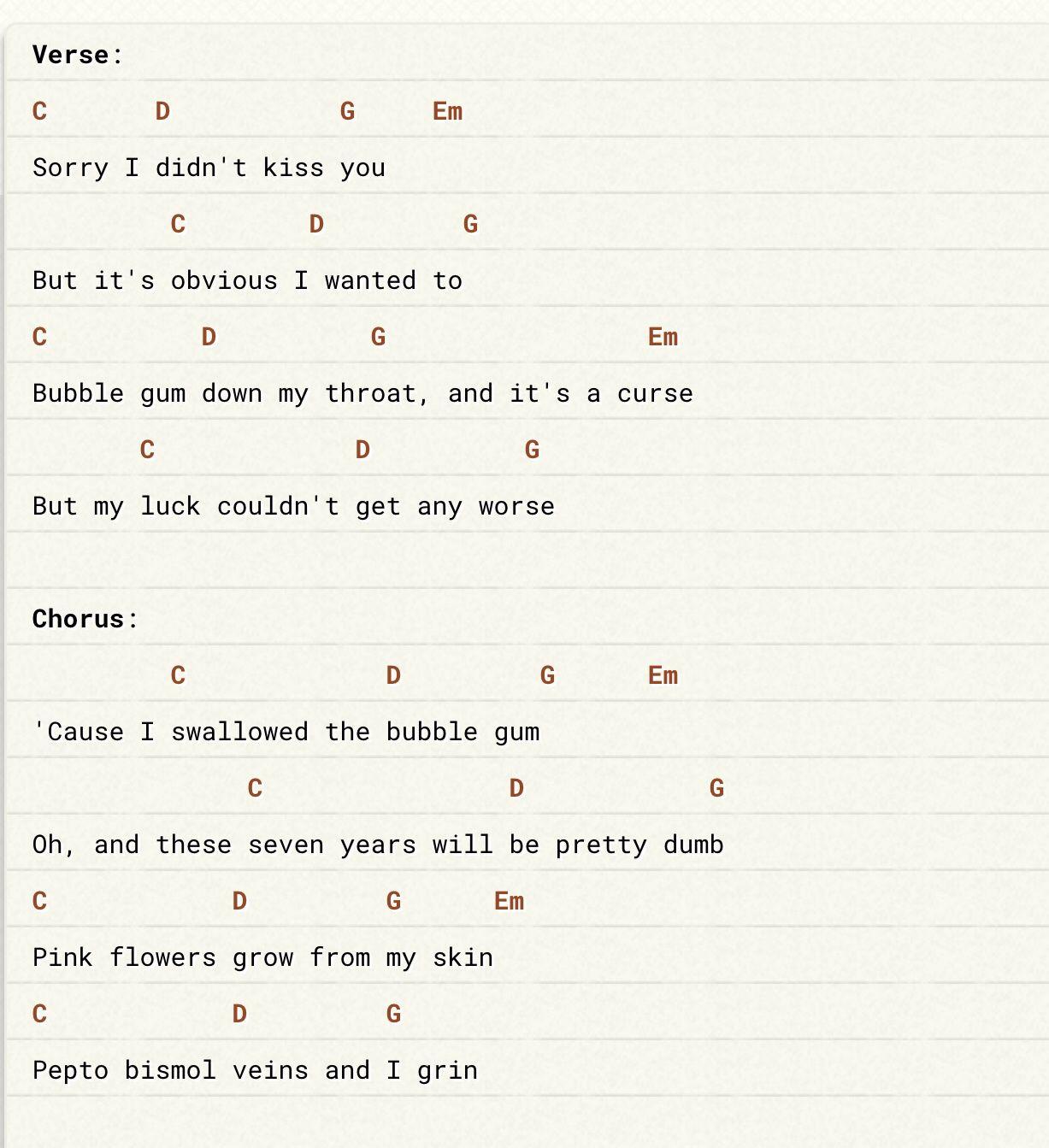 First Verse Chorus Ukulele Chords Ukulele Songs Uke Songs