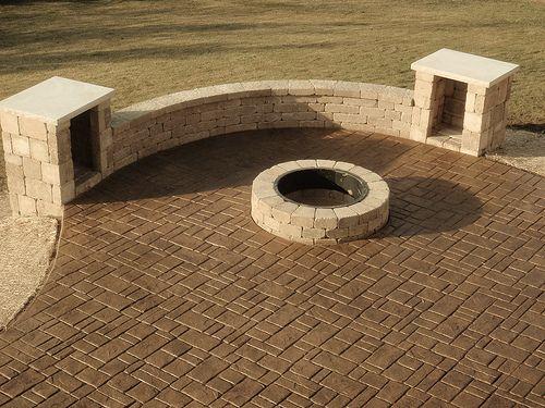 verona cobblestone stamped cement - Google Search