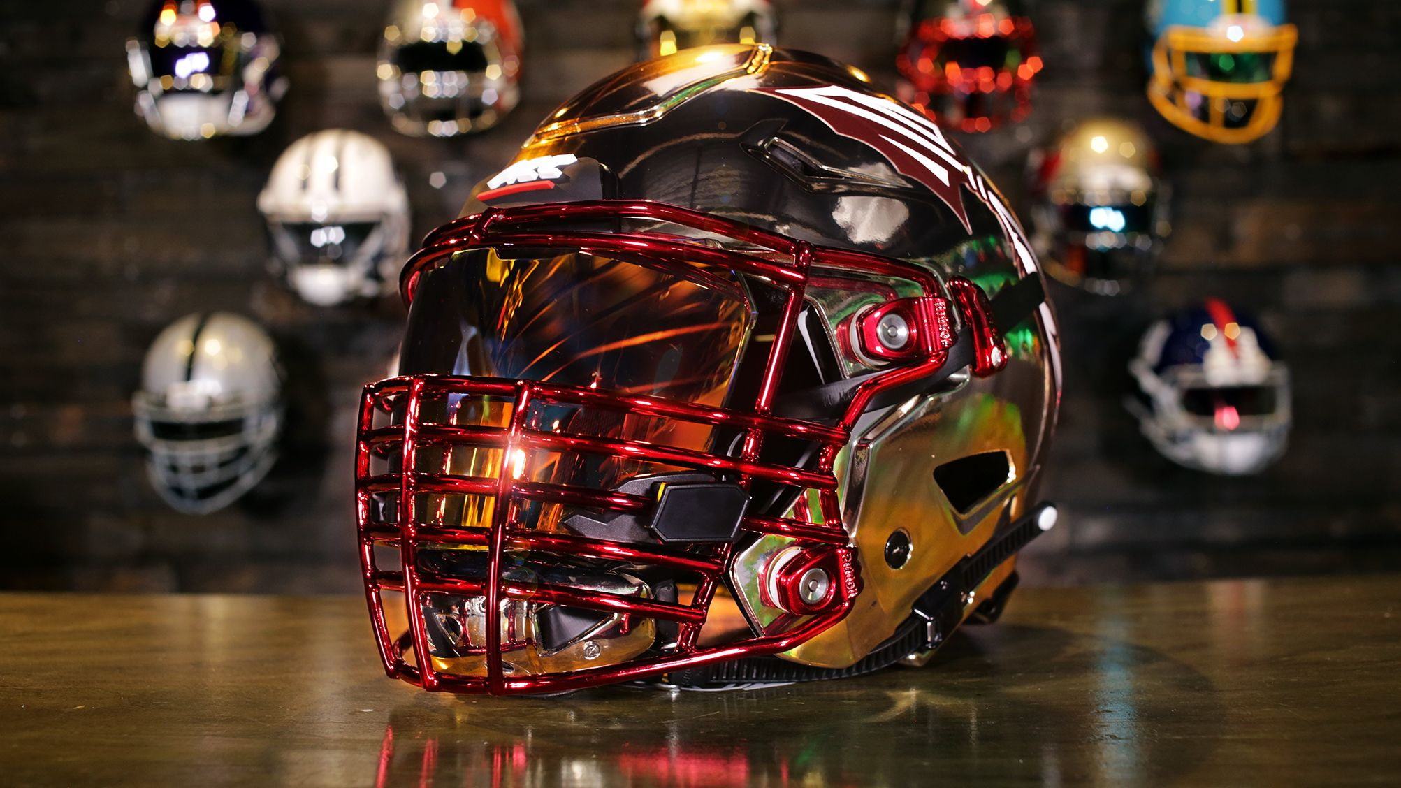 Check out this custom helmet that was purchased as a gift