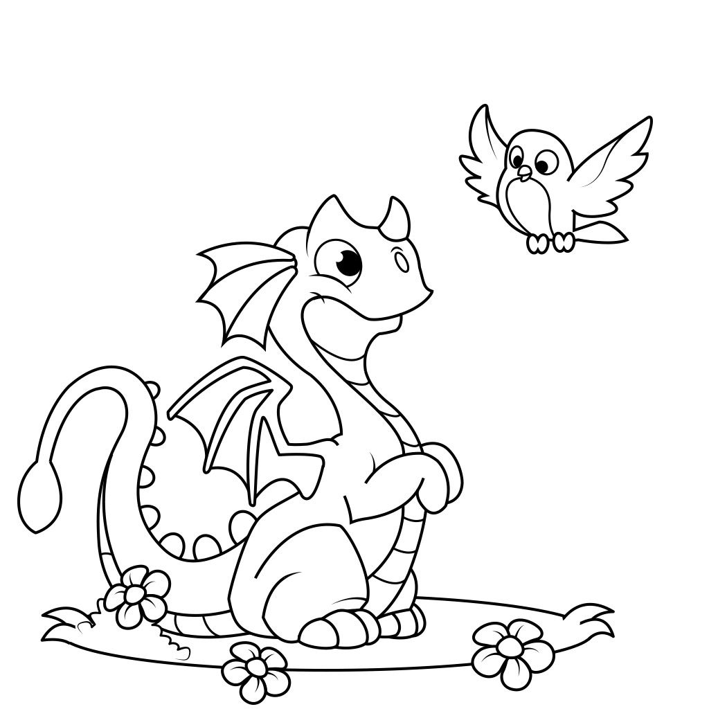 Dragon Coloring Pages Free Android Ios And Windows Phone App Dragon Coloring Page Coloring Pages Kids Printable Coloring Pages