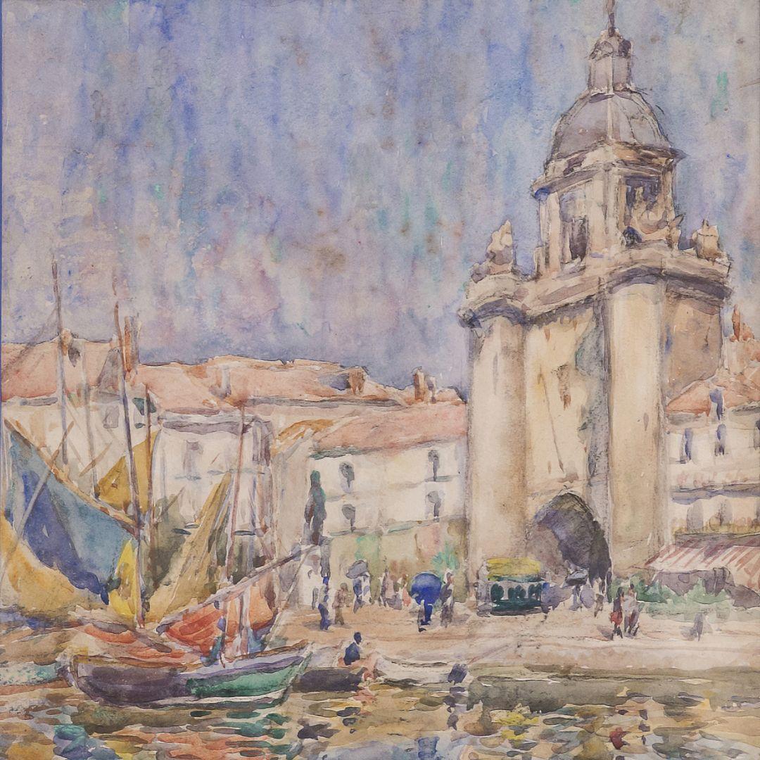 Nathan Roullot La Rochelle Watercolor On Paper Avec Images