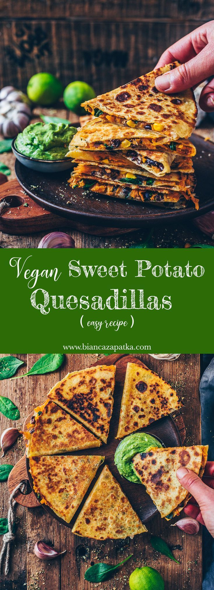 Vegan Sweet Potato Quesadillas easy recipe potato al horno asadas fritas recetas diet diet plan diet recipes recipes