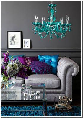 Nassima Home: Salon bleu gris poupre baroque | For the Home ...