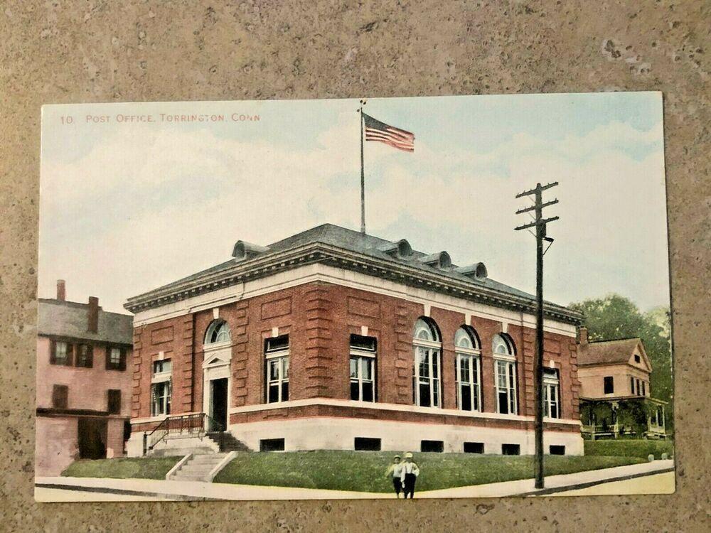 Post Office Torrington Connecticut Vintage Postcard Unposted Ct 1 Ebay Torrington Connecticut Vintage Postcard Post Office
