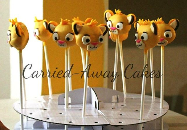 Splendid Simba Cake Pops With Images Lion King Cakes King