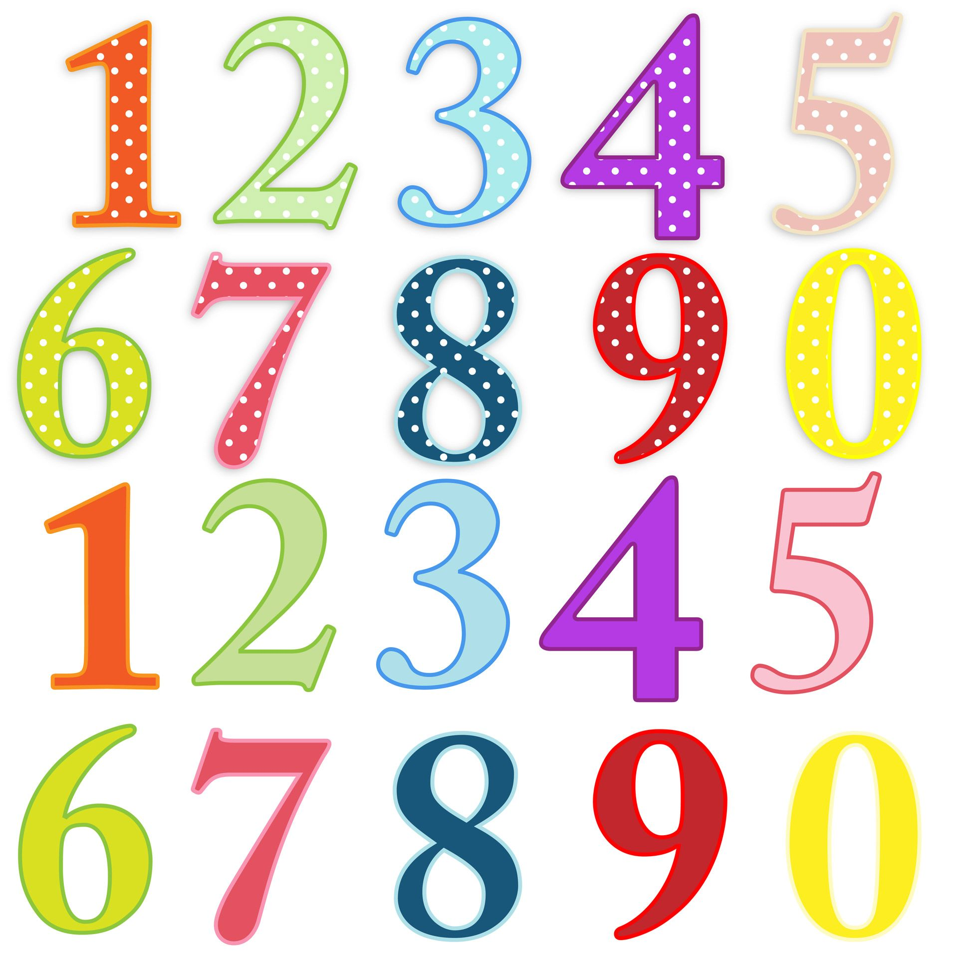 Numbers Colorful Clip-art