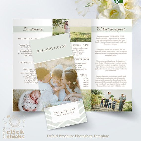 clean with nice design trifold price list brochure template