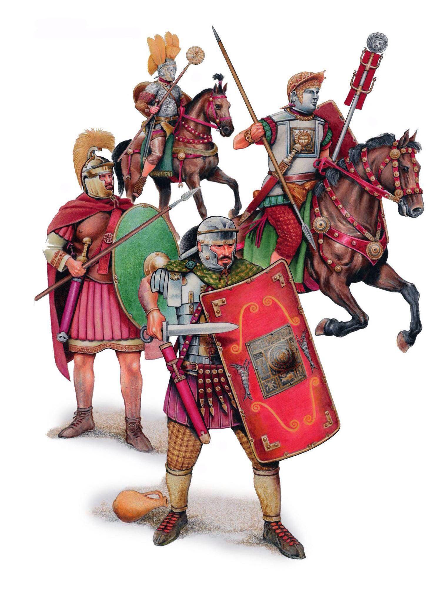 Римские солдаты в Британии.