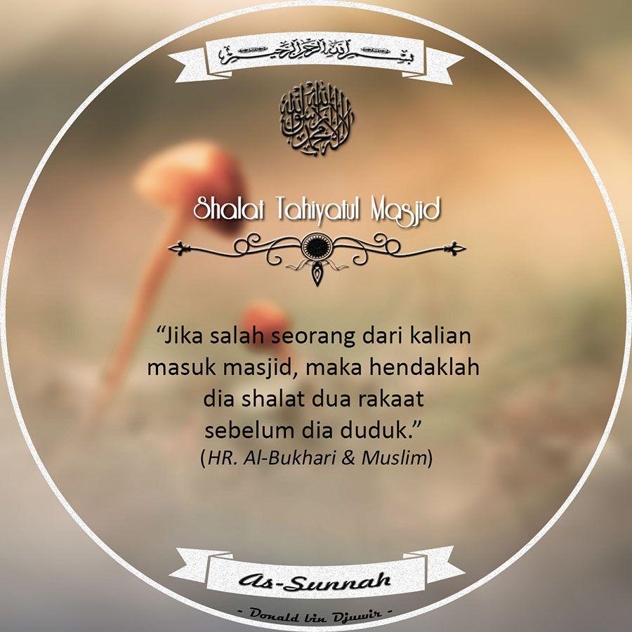Shalat Tahiyatul Masjid Motivasi Bijak Doa