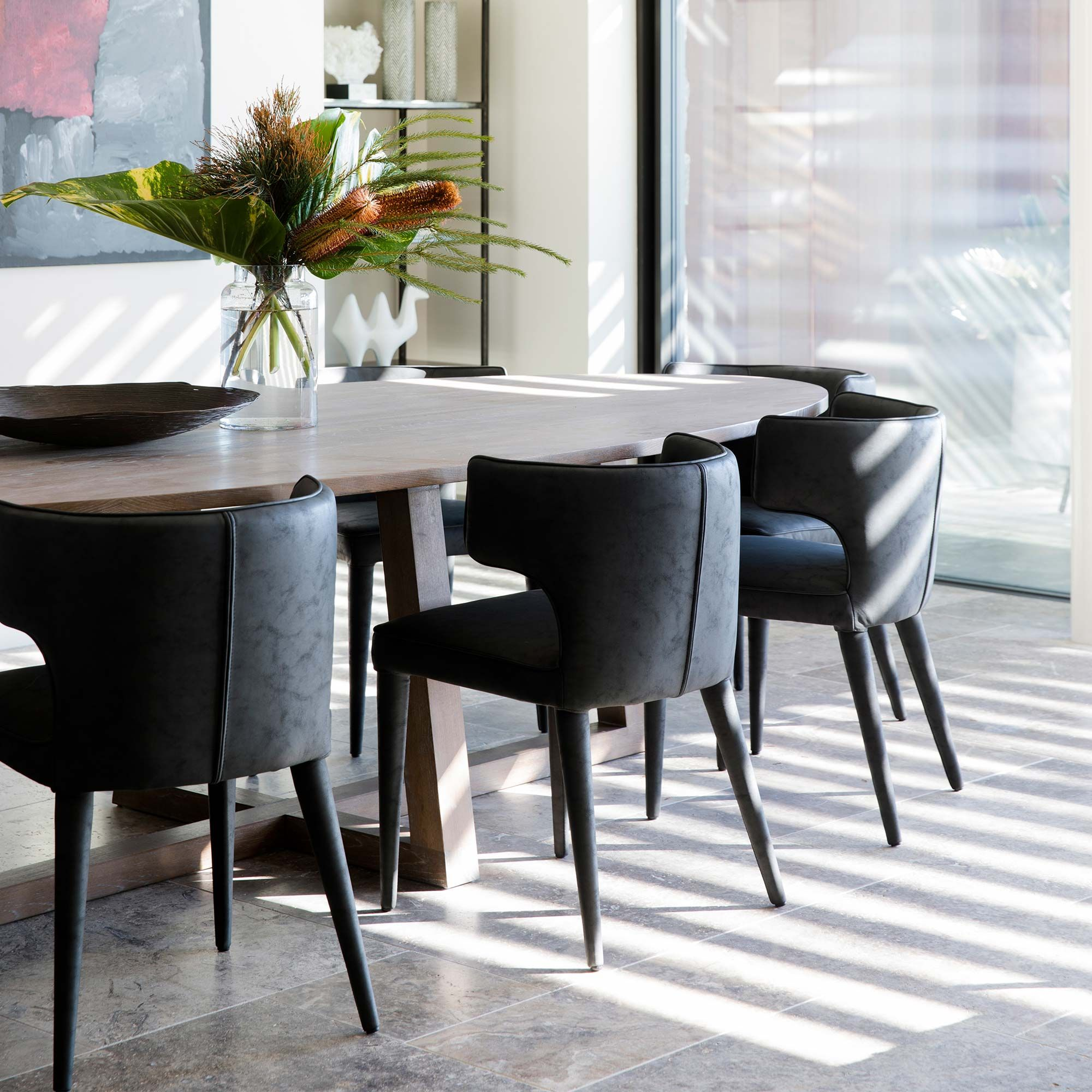With A Curved Back And Extended Wings The Melrose Dining Chair Is Perfect For The Contemporary Home Cocor Dining Chairs Sofa Dining Table Side Chairs Dining