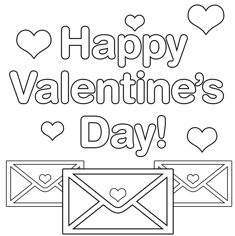 happy-valentines-day-coloring-page | preschool activities ...