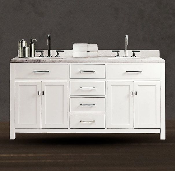 Images Restoration Hardware Bathrooms | Hutton Double Vanity Sink White  Restoration  Hardware | Bathrooms