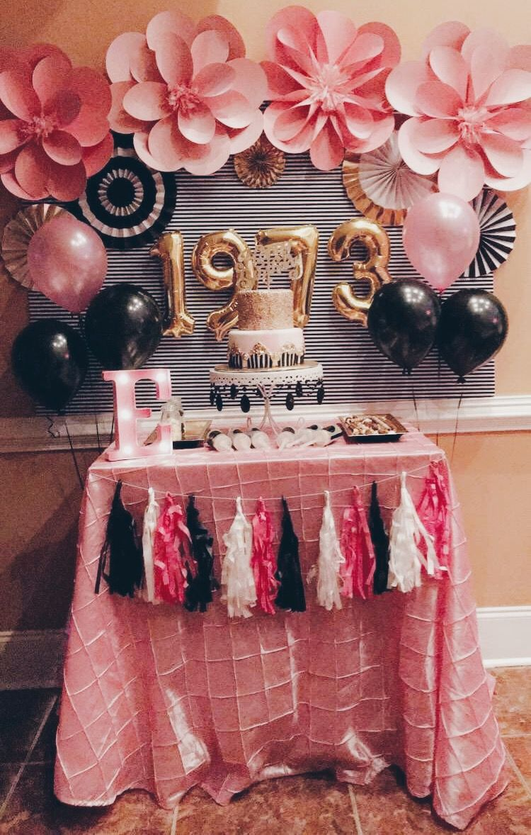 Moms 44th Birthday 44birthday Katespadebirthday 44 Cake Greensboro Nc Fiesta Cumpleanos Dorado Momsbirthday