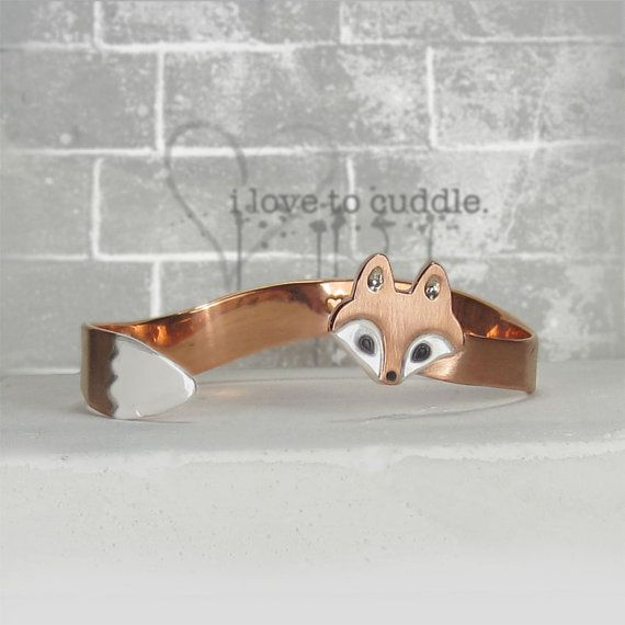 I WANT! - Wrap Around Fox Bracelet by WeldedHeart on Etsy, $90.00