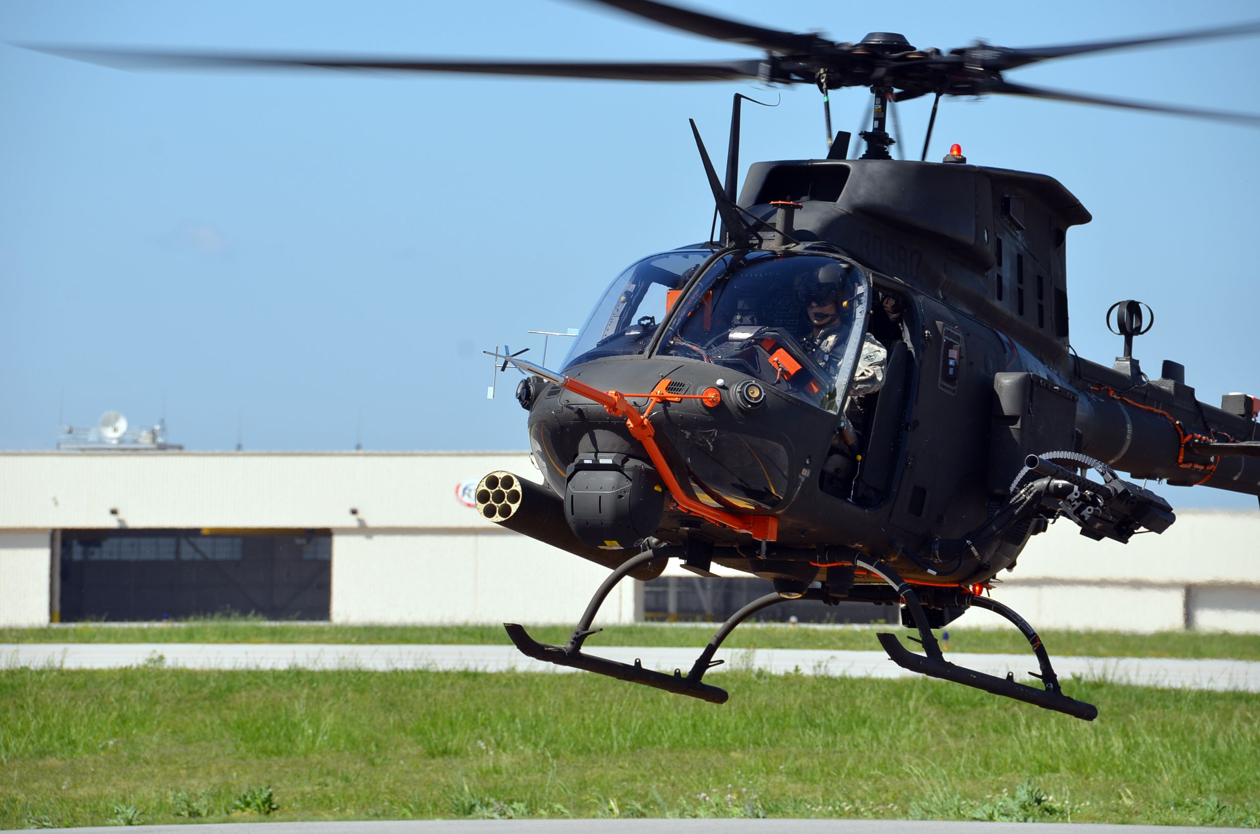 The first OH-58F Kiowa prototype. U.S. Army photo