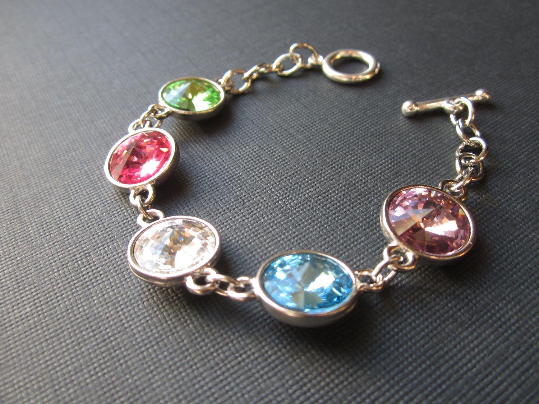 Grandmother's Bracelet Crystal Birthstone Bracelet by SprigJewelry, $60.00