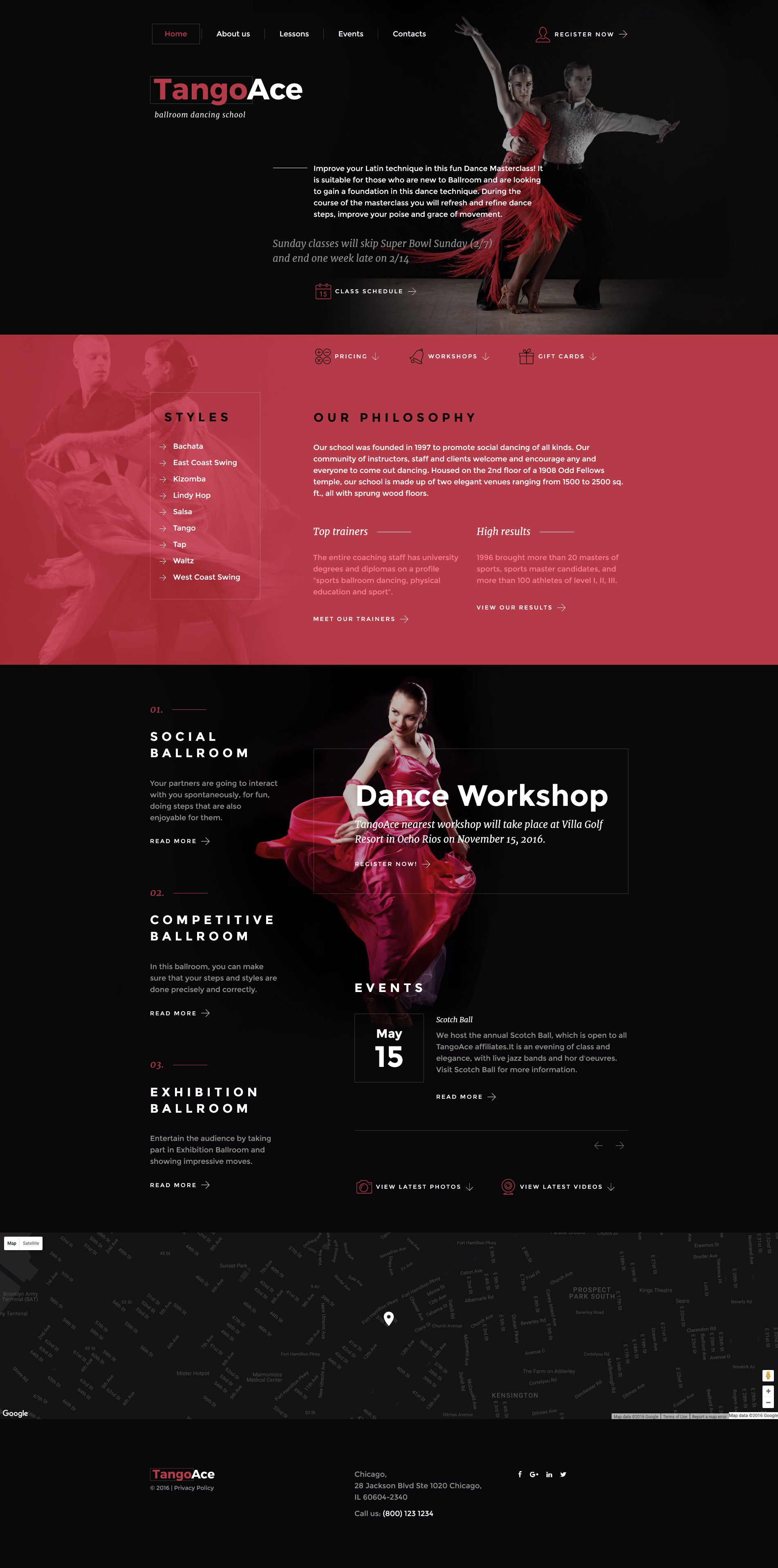 454a9342623 Dance Studio Responsive Website Template  58589 -  https   www.templatemonster.