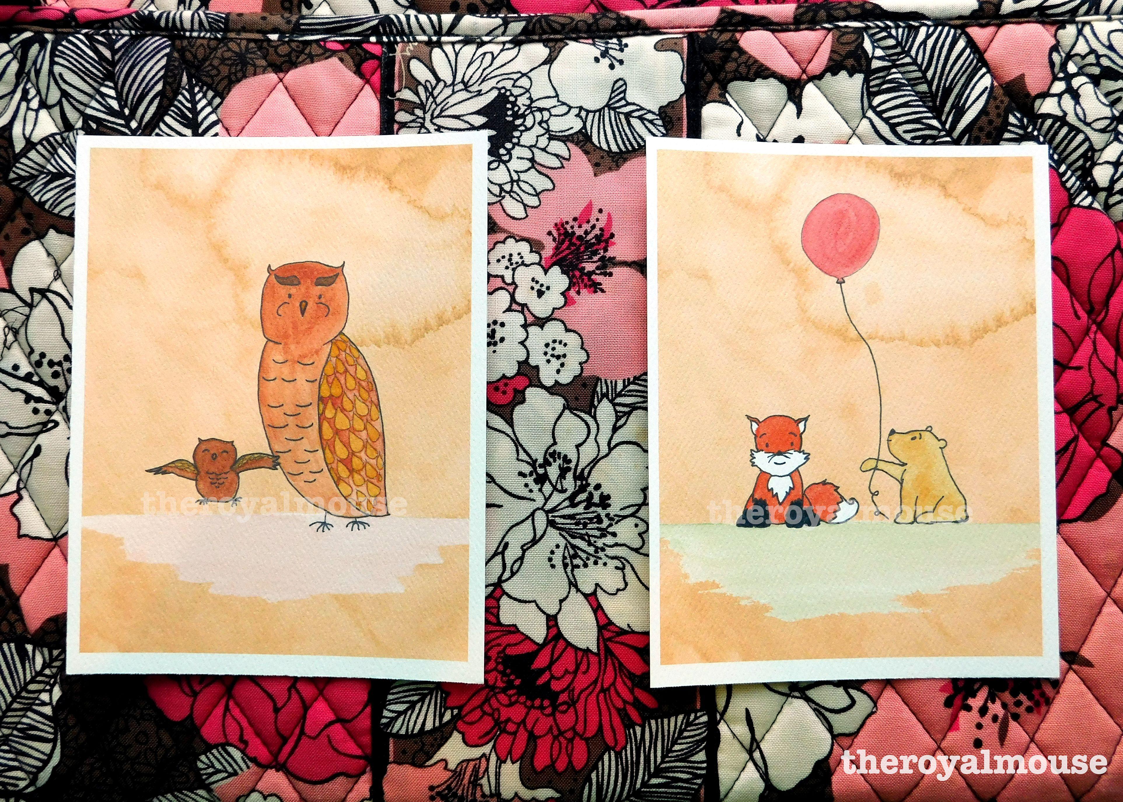 fall, woodland, owl, pooh, bear, balloon, nursery art, nursery decor ...