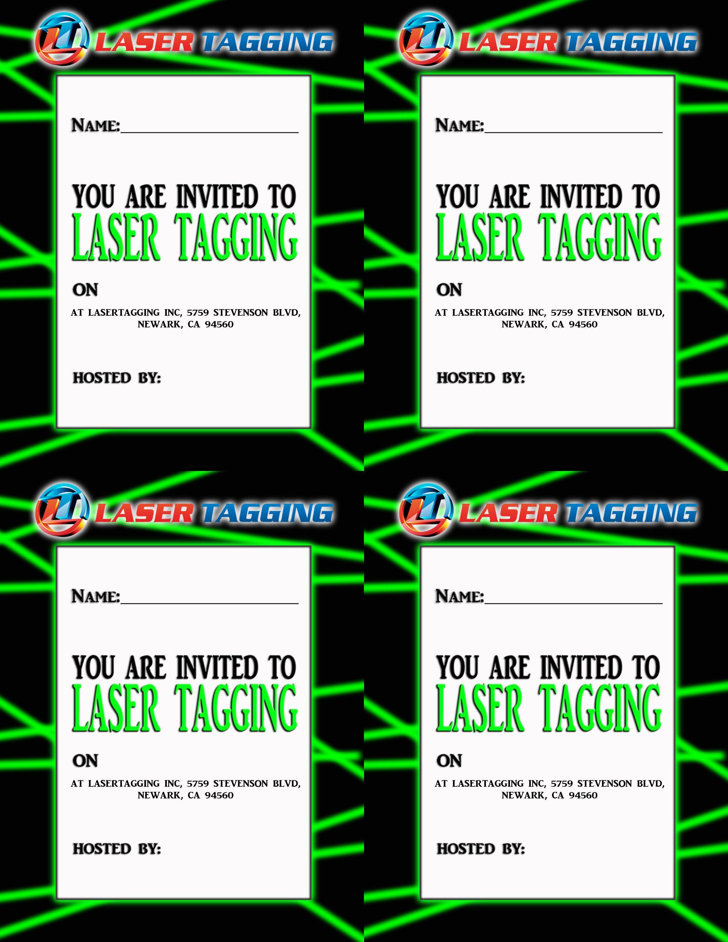 Einladung Fur Lasertag Free Printable Party Invitations Birthday Invitation Templates