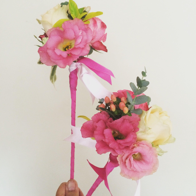Flower wand Wedding flowers, Florist, Funeral flowers