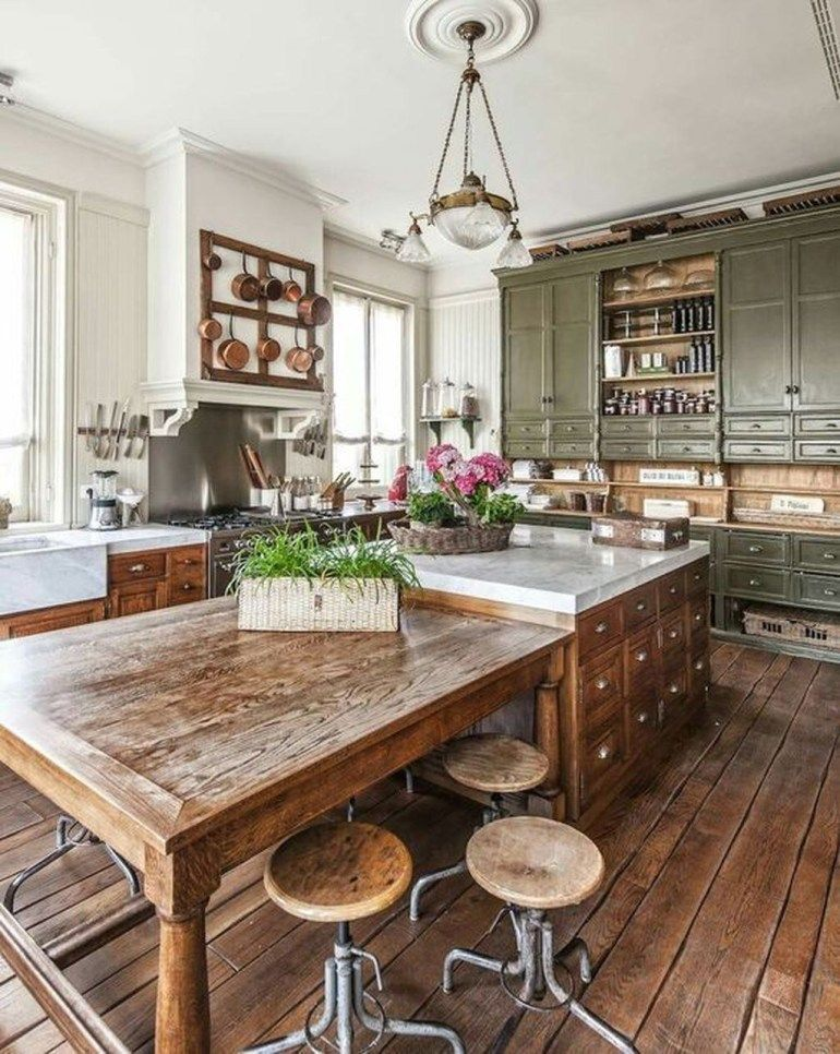 remarkable farmhouse kitchen decor | These remarkable vintage storage units will add spades of ...