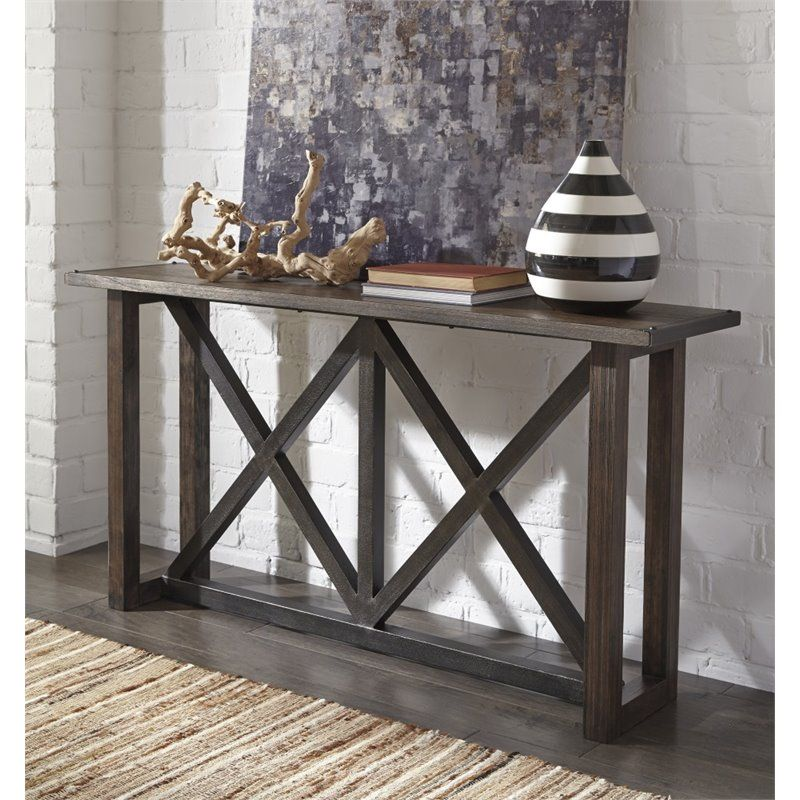 Lowest Price Online On All Ashley Zenfield Sofa Table In