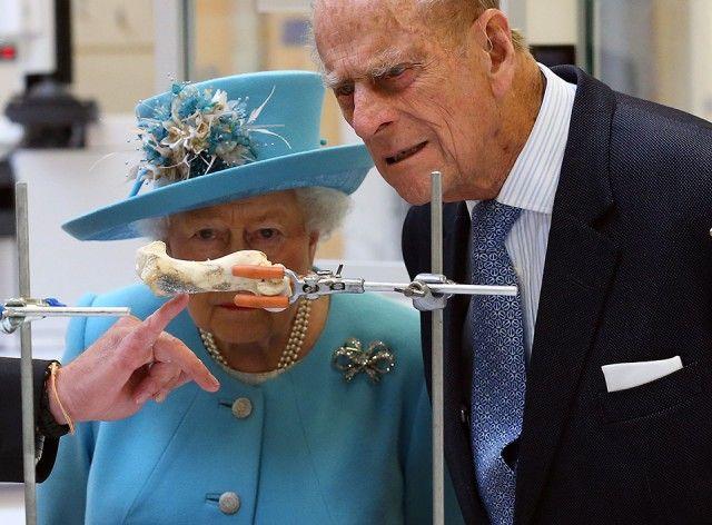 15 aprile 2017. Elisabetta II e il marito Principe Filippo