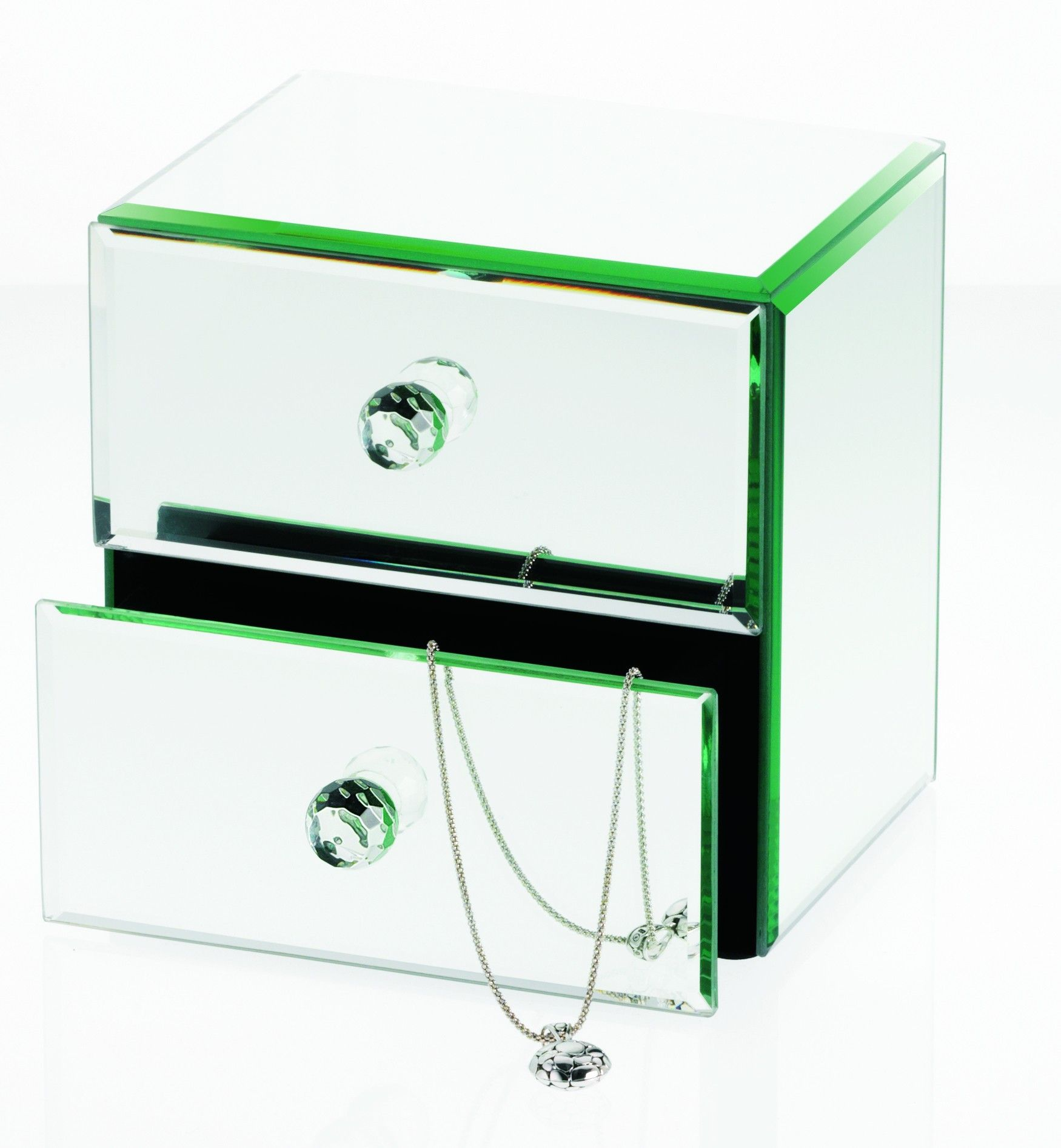 Danielle Creations Mirrored Jewelry Box with Drawers Danielle