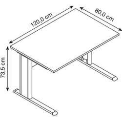 Photo of Hammerbacher Inader desk beech rectangular Hammerbacher