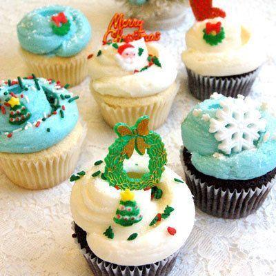 Christmas Cupcakes Dozen