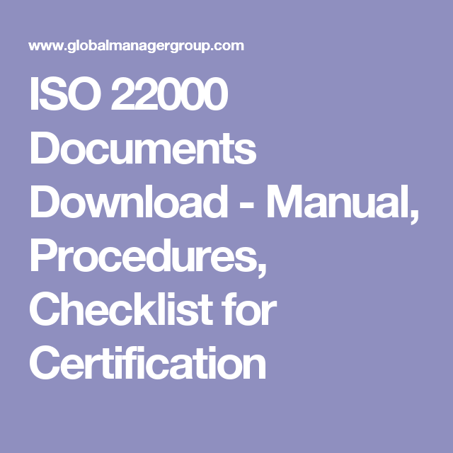 Iso  Documents Download  Manual Procedures Checklist For