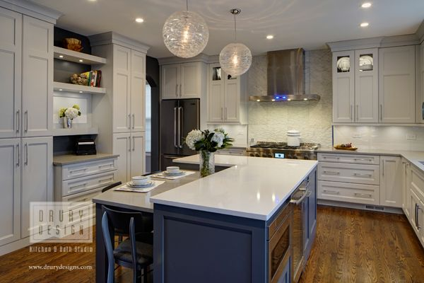 Transitional Arlington Heights, Illinois Kitchen Remodel. Featuring Rutt  HandCrafted Cabinetry In Gray And White