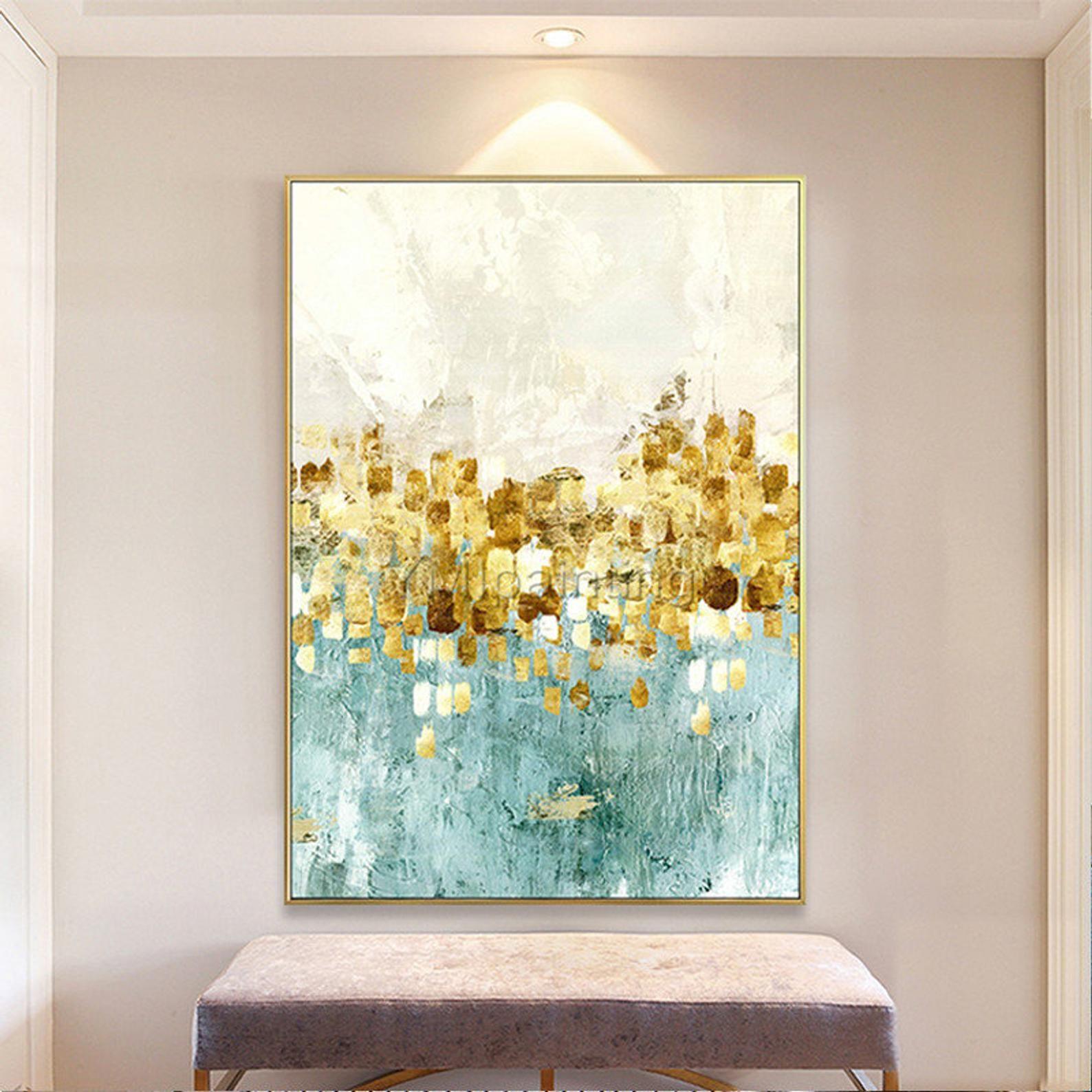 Gold Art Acrylic Paintings On Canvas Art Modern Abstract Etsy Modern Art Abstract Abstract Painting Acrylic Painting Canvas