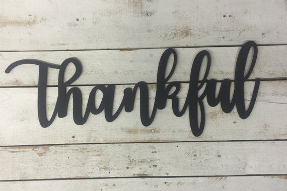 Thankful Wooden Sign-Thanksging Wood Sign-Thankful Wood Sign